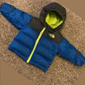 3-6M NorthFace bubble coat